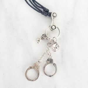 ❤ 4 for $25 ❤ #1002 Handcuffs & Key Necklace Rose